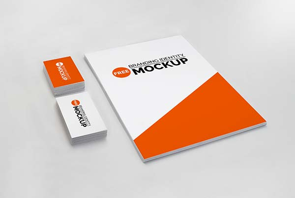 Photorealistic Branding Identity Mock-Up Free