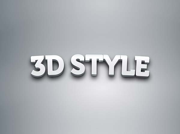 photoshop 3d text styles free download