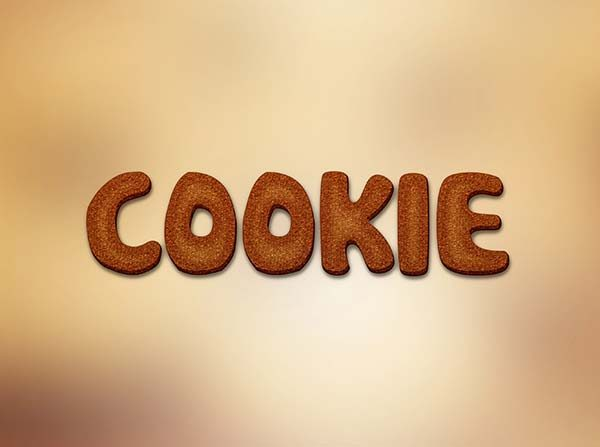Cookie Text Effect PSD
