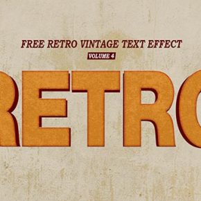 Retro Vintage Text Effect Volume 4