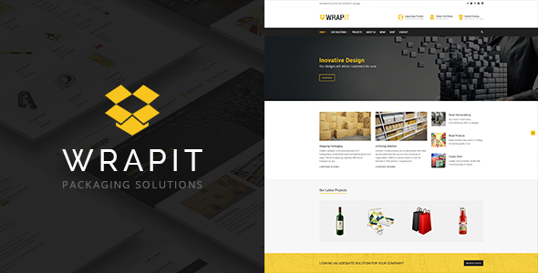 Packaging Company WordPress Theme