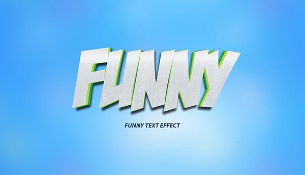 Funny Cartoon Text Effect PSD